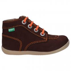 Botines KICKERS  de Niña y Niño 653097 BONZIP-2 92 MARRON FONCE ORANGE
