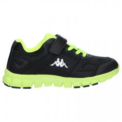 Girl and Boy Sports shoes KAPPA 303PYD0 SPEEDER 907 BLACK-LIME