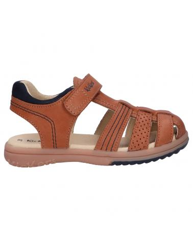 Women and Girl and Boy Sandals KICKERS 349508-30 PLATINIUM 114 CAMEL