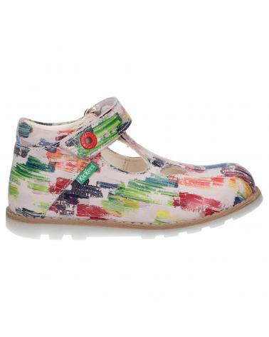 Girl Shoes KICKERS 785068-10 NONOCCHI 2 MULTICOLOR PAINTING