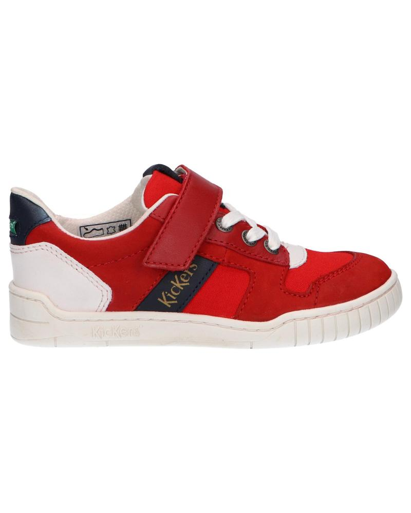 Boy and Girl Sports shoes KICKERS 858480-30 WINTUP 43 ROUGE BLANC MARINE