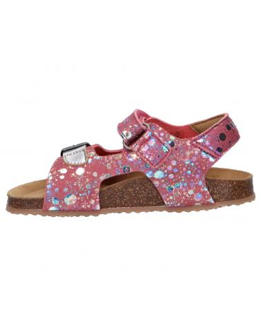 Women and Girl Sandals KICKERS 869511-30 FUXIO 131 ROSE ARGENT IMPRIME
