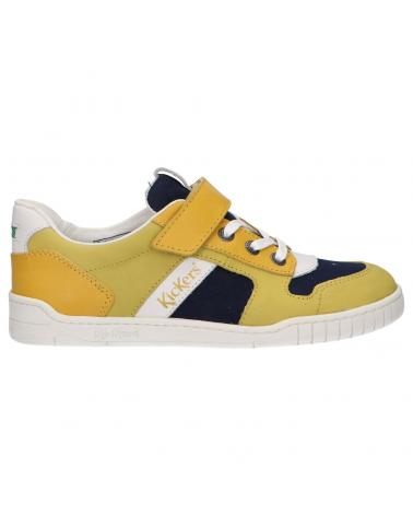 Boy and Girl Sports shoes KICKERS 858480-30 WINTUP 72 JAUNE MARINE BLANC