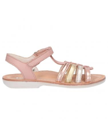 Women and Girl Sandals KICKERS 858620-30 COSMETICK 131 ROSE METALLISE OR