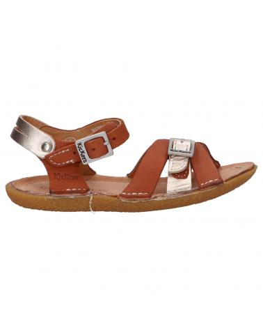Boy and Girl Sandals KICKERS 858760-30 PEPETE 114 CAMEL OR
