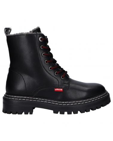 Women and Girl and Boy Boots LEVIS VBRO0005S BROOK FUR 0003 BLACK