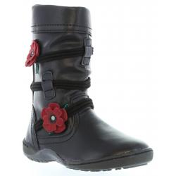 Botas de Niña Flower Girl 218140-B2040 BLACK- W RED