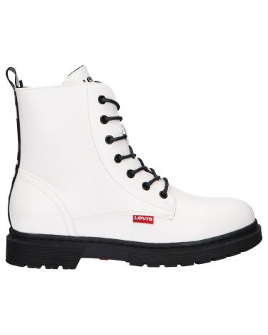 Women and Girl and Boy Boots LEVIS VPHI0021S CLOVER 0061 WHITE
