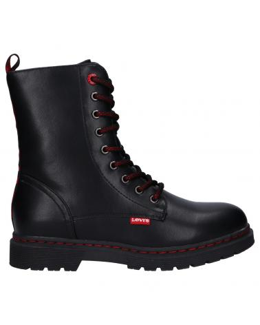 Women and Girl and Boy Boots LEVIS VPHI0045S CLOVER HIGH 0003 BLACK