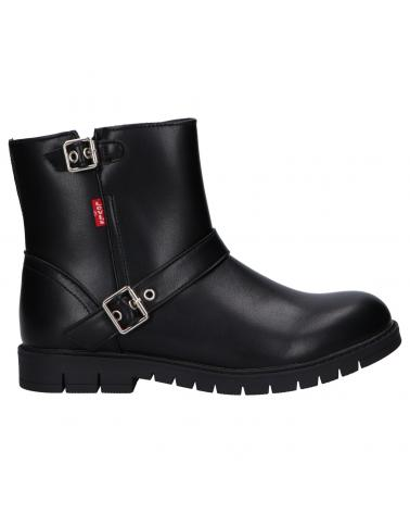Women and Girl and Boy Boots LEVIS VPHI0041S DAYTONA 0003 BLACK