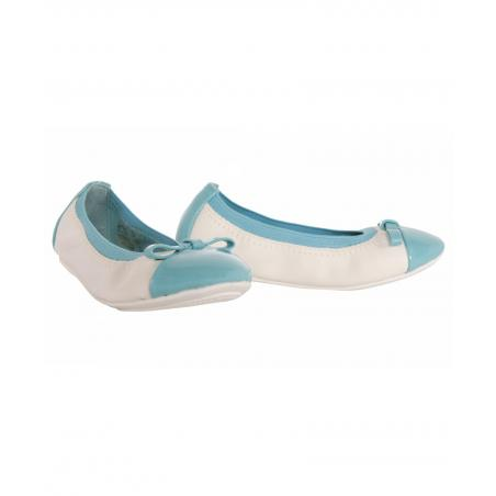 Bailarinas de Niña Flower Girl 851630-B4020 LBLUE-WHITE