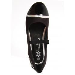 Bailarinas de Niña Flower Girl 194302-B4600 BLACK-SILVER