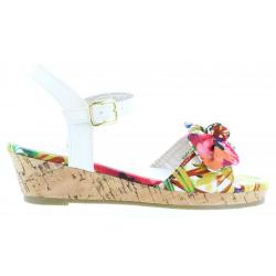 Sandalias de Niña Flower Girl 340093-B4600 MULTI RED-WHITE
