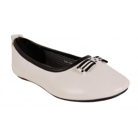 Bailarinas de Niña Flower Girl 221470-B4020 WHITE-BLACK