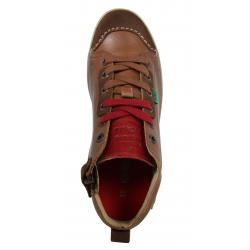 Boy Shoes KICKERS 414590-30 JYKROI 53 BLEU ROUGE