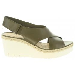 Sandalias de Mujer CLARKS 26132135 PALM KHAKI LEATHER