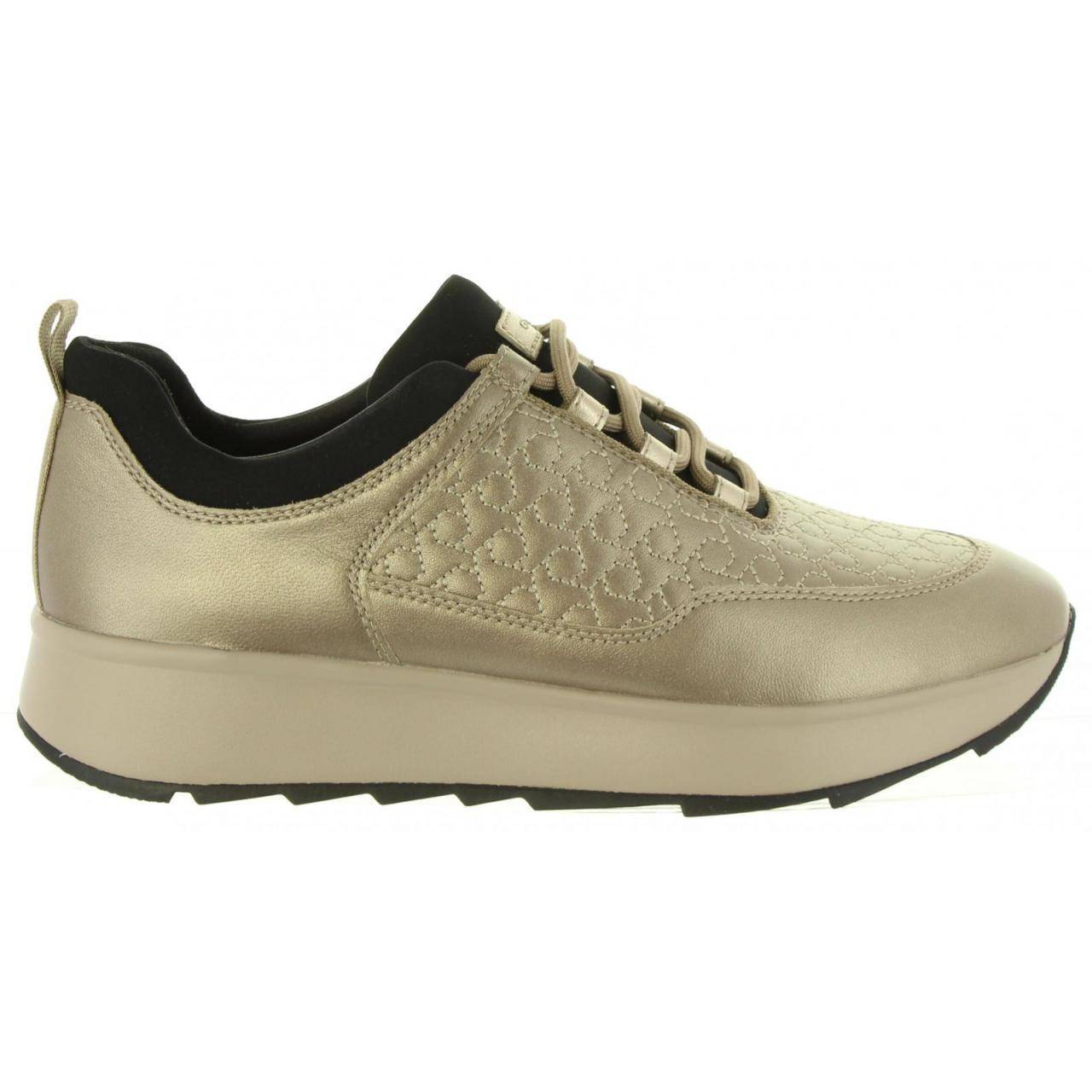 Molesto robo collar  Sports-shoes-woman-GEOX-D845TC 0BVNF D GENDRY-C9HQ6 LEAD-TAUPE